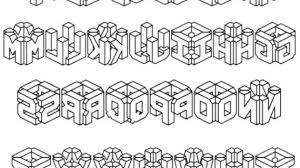 3D Bubble Letters A Z