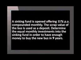 Sinking Fund Formula For Depreciation by Calculating Sinking Funds Youtube