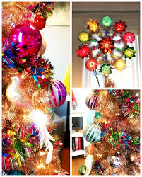 Details Of Candy Colored Glass Ornaments And Retro Style Tree Topper For Christmas