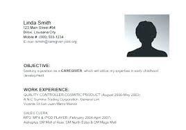Sample Of Resume For Caregiver Elderly Jobs Example Samples