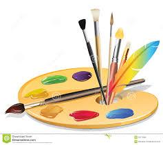 Free Clipart Paint Brush Palette