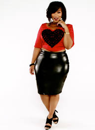 Plus Size Fashion Find Faux Leather High Waist Skirt From Wole Designs