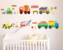 Construction Vehicles Wall Decals Working Forklift Mixer Truck ... Cars Wall Decals Best Vinyl Decal Monster Truck Garage Decor Cstruction For Boys Fire Truck Wall Decal Department Art Custom Sticker Dump Xxl Nursery Kids Rooms Boy Room Fire Xl Trucks Stickers Elitflat Plane Car Etsy Murals Theme Ideas Racing Art