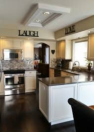 After Image Of The Stove Area And Dining Room Entrance In Kitchen Remodel Cream Glazed