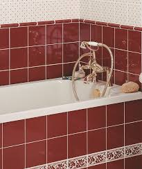 mh louise maroon border tile topps tiles