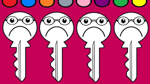 Sad Key Coloring Page And Ice Cream Books