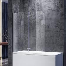 sonni duschwand für badewanne 120x140 cm bxh