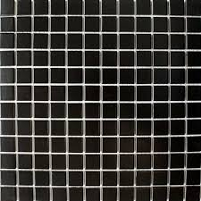 matt black square small tile a smooth satin black mosaic on a mesh