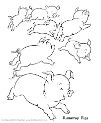 Printable Animals Coloring Pages Farm Animal Sheets Free Pig Luxury For Kids