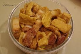 cuisine chinoise porc recette chinoise tofu frit et poitrine de porc sauté les