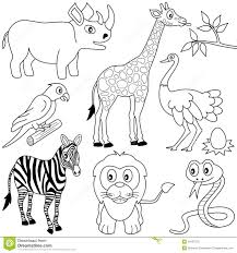 Royalty Free Stock Photo Download Coloring African Animals