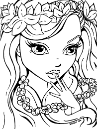 A Groups Of Happy Girl Scouts Coloring Page To Print For Girls New Pages Flowers