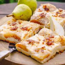 thüringer blechkuchen mit birnen