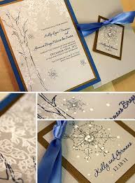 Unique Winter Wedding Invitation With Ribbons