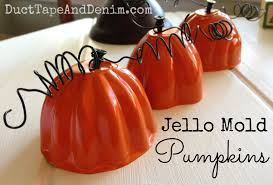Halloween Jello Molds by Jello Mold Pumpkins Fall Upcycled Diy Project With Spray Paint