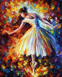 Artist Colorful Ballerina Painting