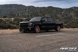100 Chevy Truck Performance Lowered Silverado On Gold M228 Rims By MRR