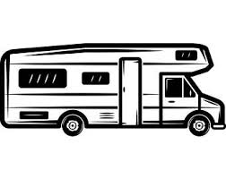 Motorhome 1 Camper Recreational Vehicle RV Camping Camp Campsite Trailer Transportation Vacation Logo SVG