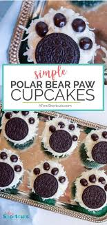 Celebrate The Chilly Weather With This Fun Polar Bear Paw Cupcakes Recipe Such A Cute