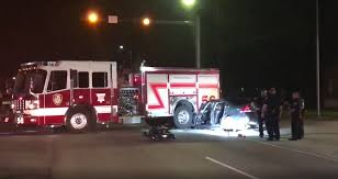 Drunk Driver Gets Pinned In Car After Slamming Into Fire Truck ... Driver In Fatal Fire Truck Crash Was Fresh Out Of Jail Nbc 7 San Diego 2 Refighters Killed 3 Hurt As Truck Crashes On Way To Scene Firefighter Injured When Fire Into Car Carrying Family Metal Township Firetruck Driver Crash Car Rear Roxana I255 Fox2nowcom Ks Hurt Apparatus News Drunk Gets Pinned After Slamming Tesla Model S California What We Know So Far Airport Accident Politicsbm Rescue In Miami Youtube Ambulance Collision