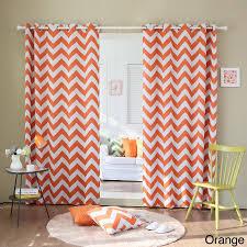 Chevron Print Curtains Walmart by Aurora Home Chevron Print Room Darkening Grommet Top 96 Inch