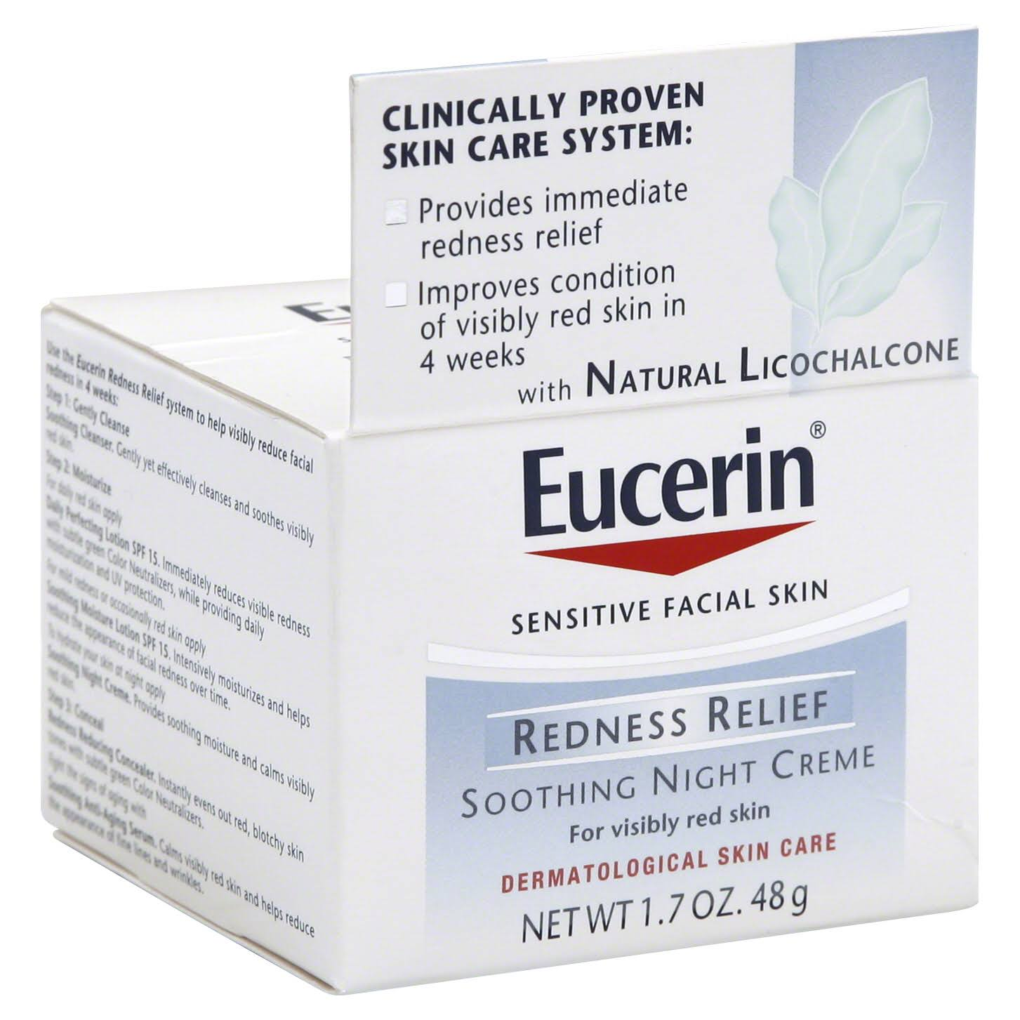 Eucerin Redness Relief Soothing Night Cream - 48g