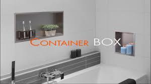 wandnische einbau im badezimmer nassbau container box