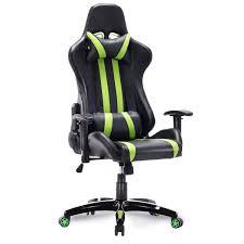 GTX Neon Stripe Racer Gaming Chair