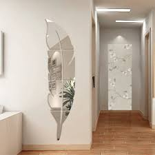 miroire chambre idee deco miroir adhesif avec ynuth stickers miroir effet plume