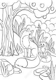 Dibujos Para Colorear De Zorros Kawaii Primitivelifepw