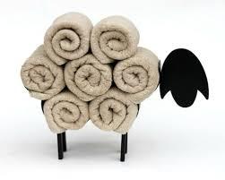 badezimmer handtuchhalter stehend schwarz schaf