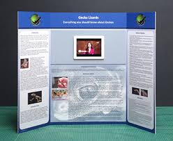 Tri Fold Presentation Board Template Science Poster Display Professional