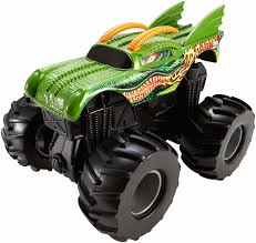 100 Hot Wheels Monster Truck Toys Jam Rev Tredz Dragon Vehicle 12cm Authentic Hig
