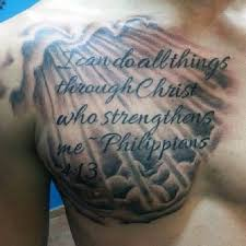 40 Philippians 413 Tattoo Designs For Men Bible Verse Ink Ideas