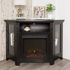 Fireplace Winmoor Transitional Tv Stand Black Stands Online Corner