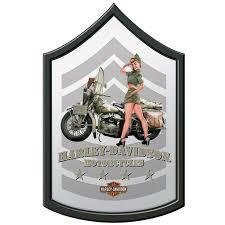 Harley Davidson Military Mirror