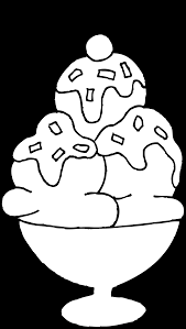 Marvelous Ice Cream Sundae Coloring With Cone Page And