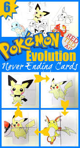 Fun With DIY Pokemon Evolution Cards Print Assemble Colour And Watch Them Change