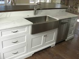 stainless steel farmhouse sink in Kitchen Eclectic with Brookwood