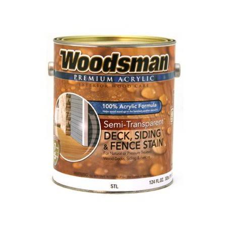 True Value Mfg Woodsman STLN-GL Acrylic Deck Siding and Fence Stain - Semi-Transparent