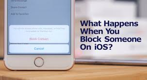 What happens when you block someone on your iPhone