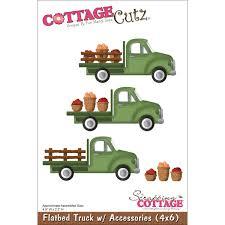 Cottagecutz Die-Flatbed Truck W/Accessories 4.9