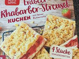 rewe beste wahl erdbeer rhabarber streusel kuchen kalorien