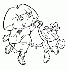 Free Android Coloring Dora And Boots Pages About Easter Page Archives For Kids