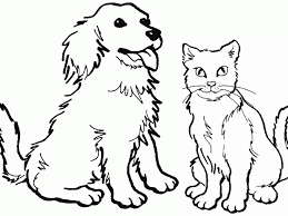 Full Size Of Coloring Pagesdog And Cat Pages Breathtaking Dog