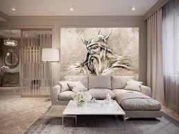 bilderdepot24 fototapete selbstklebend wikinger ii sephia 150x100 cm moderne wand deko dekoration wohnung wohnzimmer wandtapete