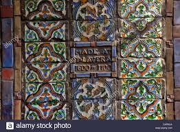 moravian pottery tile works in doylestown pa stock photo