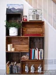 Homemade Bookshelf Ideas DIY Vintage Wine Crate