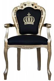 pompöös by casa padrino luxus barock esszimmerstuhl mit armlehnen schwarz gold pompööser barock stuhl designed by harald glööckler pompöös by