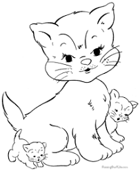Modest Design Coloring Pages Cats Cat Free And Printable